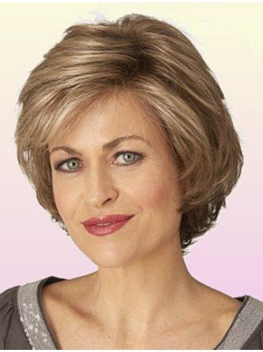 Elegant Lace Front Wavy Chin Length Classic Wigs