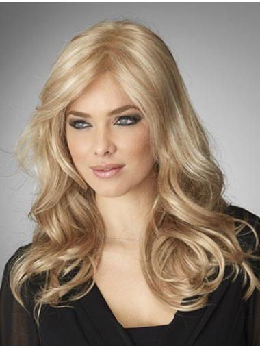 Blonde Wavy Remy Human Hair Nice Long Wigs