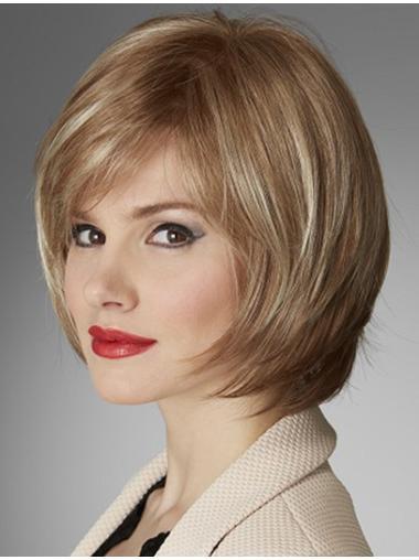 Modern Blonde Monofilament Chin Length Lace Wigs