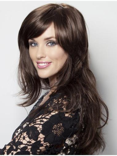 High Quality Black Wavy Remy Human Hair Long Wigs