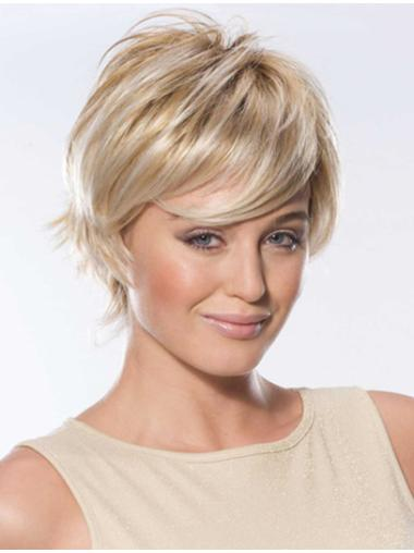 Blonde Shining Boycuts Lace Front Short Wigs