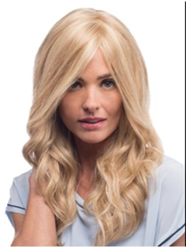 Easeful Blonde Wavy Long Lace Front Wigs