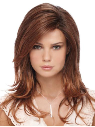 Easy Auburn Lace Front Long Glueless Lace Wigs