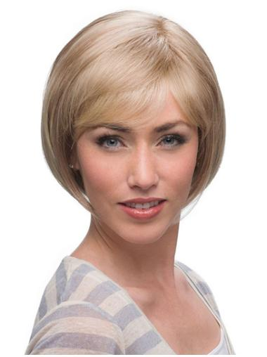 Bobs New Blonde Monofilament Medium Wigs