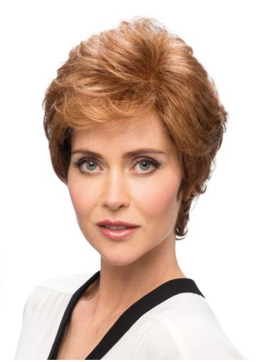 Hairstyles Monofilament Layered Wavy Short Wigs