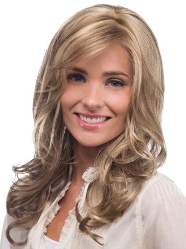Blonde Wavy Synthetic Designed Long Wigs