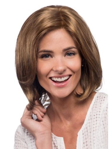 Lace Front Straight Synthetic Designed Medium Wigs