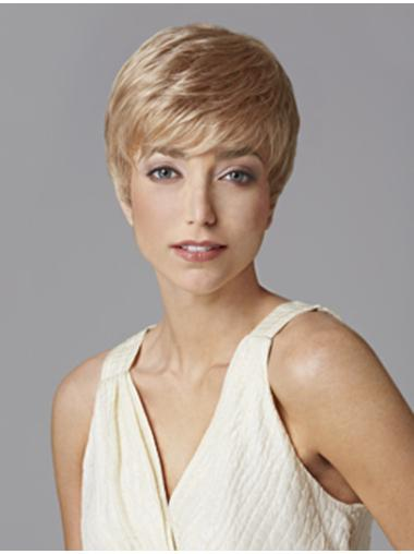 Radiant Monofilament Boycuts Blonde Short Wigs