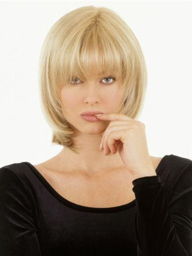 Hairstyles Blonde Monofilament Chin Length Lace Wigs