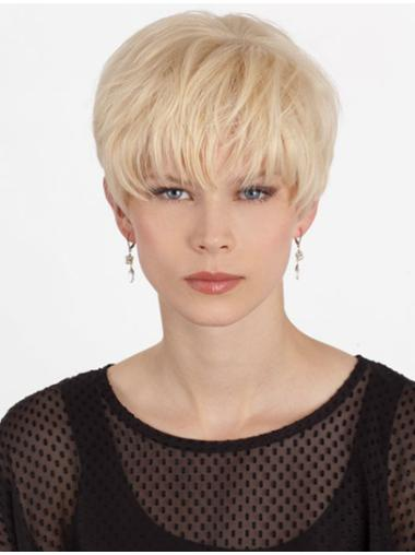 Stylish Monofilament Boycuts Blonde Short Wigs b4e1c3066d3b