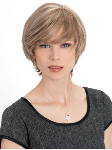 Monofilament Straight Remy Human Hair Soft Medium Wigs