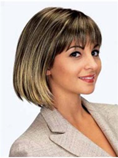 Radiant Monofilament Straight Chin Length Bob Wigs