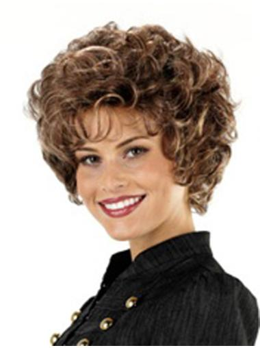 Monofilament Elegant With Bangs Straight Short Wigs