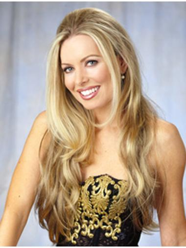 Blonde Wavy Synthetic Durable Long Wigs