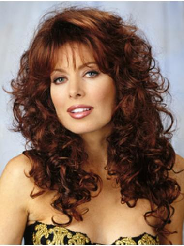 Comfortable Auburn Curly Synthetic Long Wigs