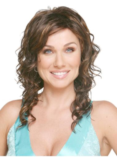 Beautiful Synthetic Brown Curly Long Wigs