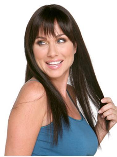 Gorgeous Auburn Straight Remy Human Hair Long Wigs