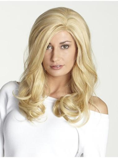 Blonde Wavy Remy Human Hair Graceful Long Wigs