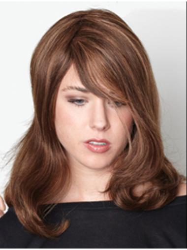 Suitable Monofilament Wavy Remy Human Hair Long Wigs