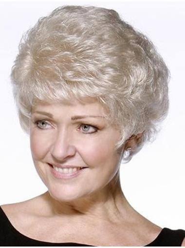 Fashionable Wavy Short Synthetic Grey Wigs