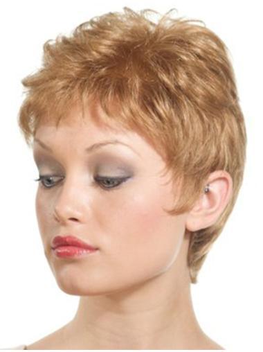 Trendy Lace Front Boycuts Blonde Short Wigs