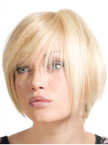 Cosy Blonde Monofilament Chin Length Wigs