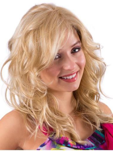 Radiant Blonde Wavy Long Synthetic Wigs