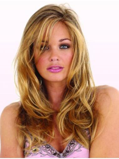 Blonde Wavy Synthetic Traditiona Long Wigs