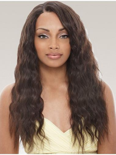 Natural Black Wavy Long Remy Human Lace Wigs