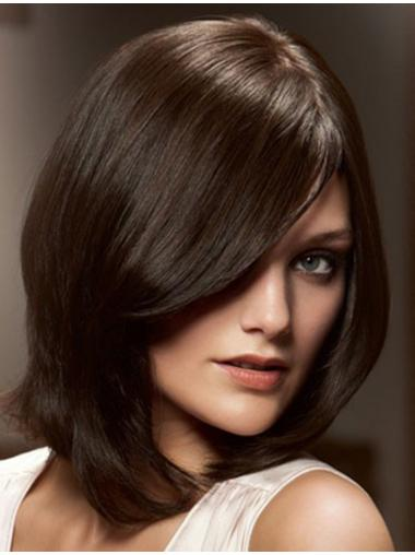 Gentle Lace Front Straight Chin Length Remy Human Lace Wigs