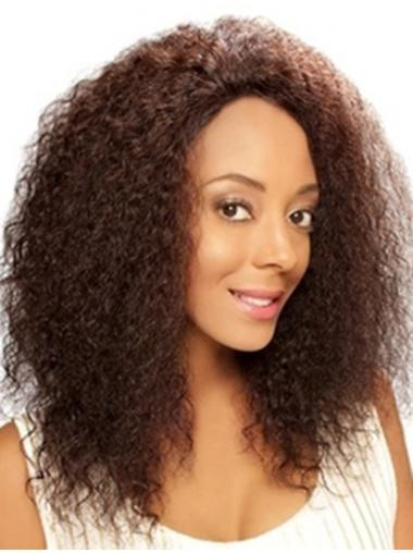 Elegant Lace Front Curly Shoulder Length Remy Human Lace Wigs