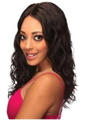 New Black Wavy Shoulder Length Synthetic Lace Wigs
