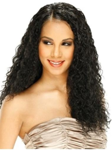 High Quality Black Curly Long Synthetic Lace Wigs