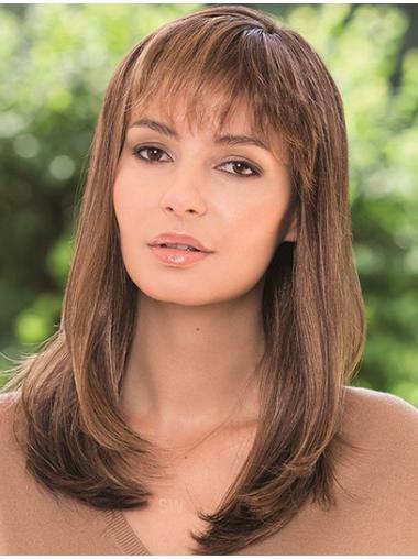 Faddish Lace Front Shoulder Length Remy Human Lace Wigs