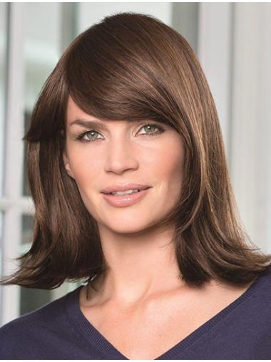 Braw Monofilament Wavy Shoulder Length Remy Human Lace Wigs