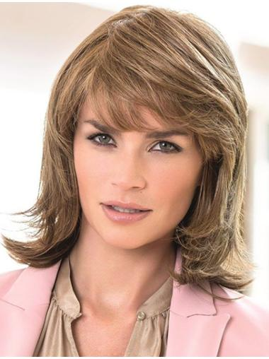 Brown Wavy Remy Human 100% Hand-tied Wigs