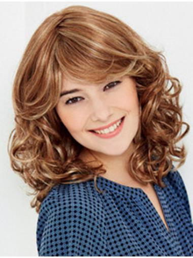 Easy Blonde Wavy Shoulder Length Lace Wigs