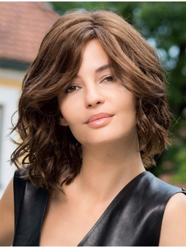 Lace Front Impressive Wavy Synthetic Medium Wigs