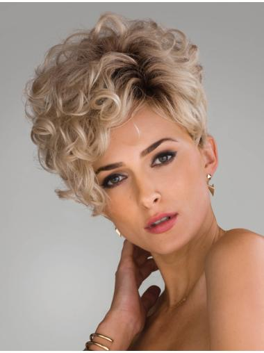 Wholesome Blonde Curly Short Synthetic Wigs