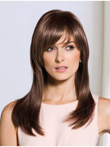 Brown Straight Synthetic Comfortable Long Wigs