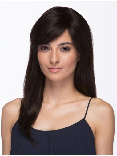 Style Brown Straight Long Human Hair Wigs