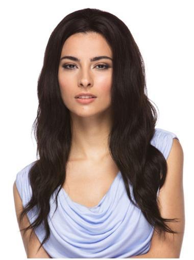 Comfortable Black Wavy Long Human Hair Wigs