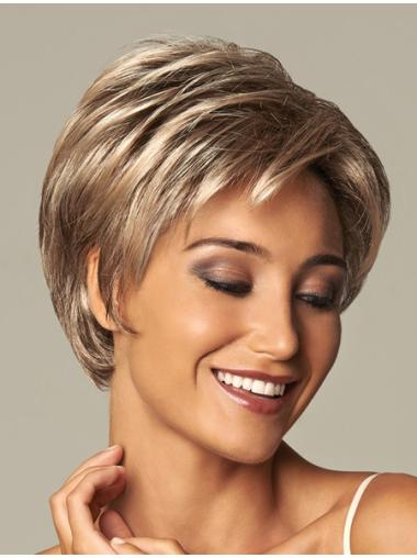 Gorgeous Blonde Wavy Short Synthetic Wigs