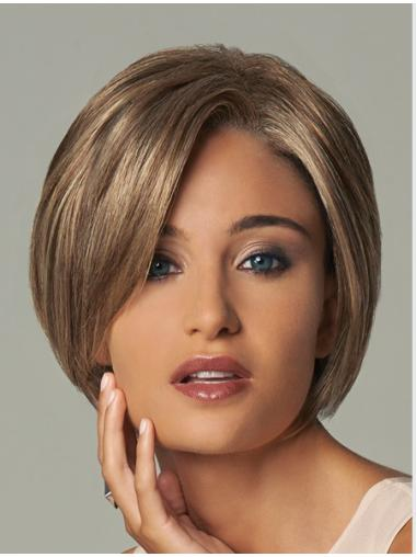No-fuss Blonde Wavy Short Synthetic Wigs