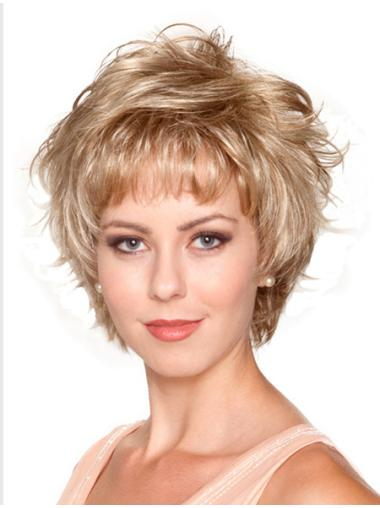 Fashion Blonde Wavy Short Synthetic Wigs
