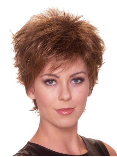 Stylish Auburn Straight Cropped Synthetic Wigs