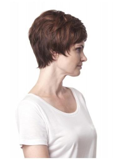 Tempting Auburn Wavy Short Synthetic Wigs