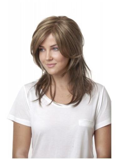 Polite Blonde Lace Front Long Lace Wigs