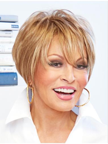 Stylish Blonde Straight Short Lace Front Wigs