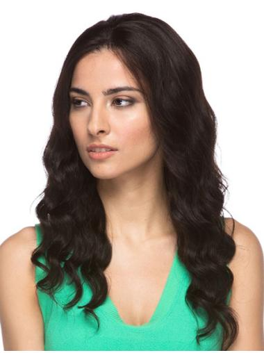 Affordable Brown Wavy Long Lace Front Wigs